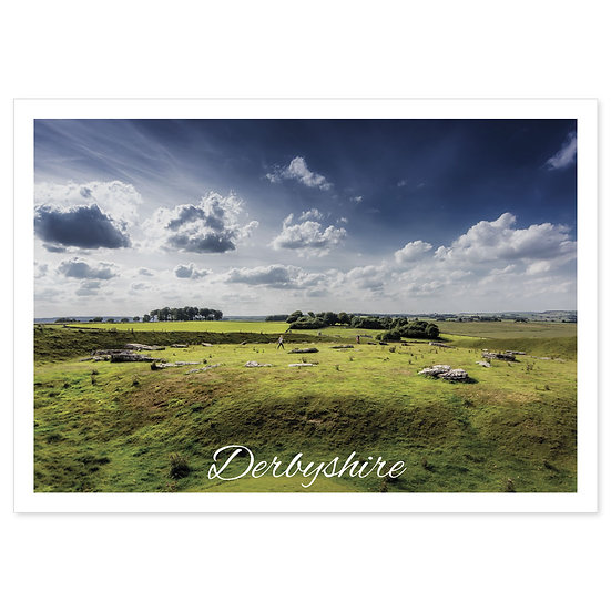 Derbyshire Arbor Low Stone Circle - Sold in pack (100 postcards)