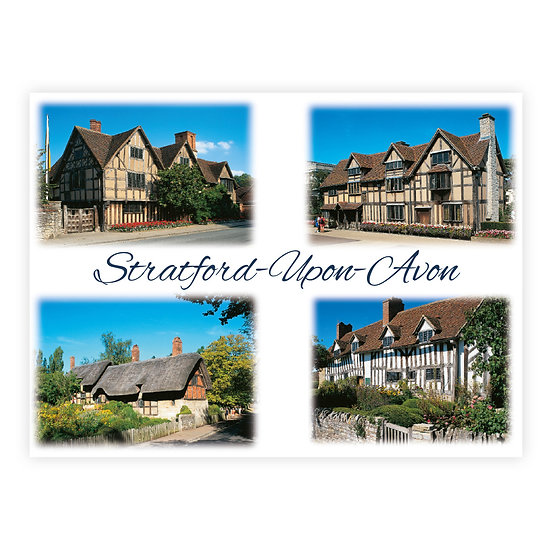 Stratford-Upon-Avon Historic - Sold in pack (100 postcards)