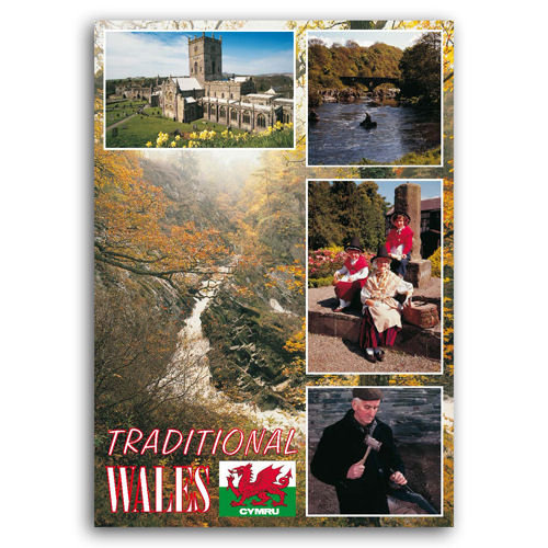 Wales Traditional Comp - Sold in pack (100 postcards)
