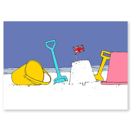 Life's a Beach by Lucy Sheeran : Bucket & Spade - Sold in pack (100 postcards)