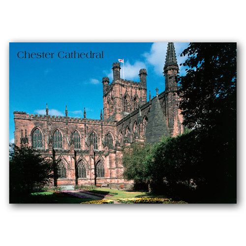 Chester Cathedral South East - Sold in pack (100 postcards)