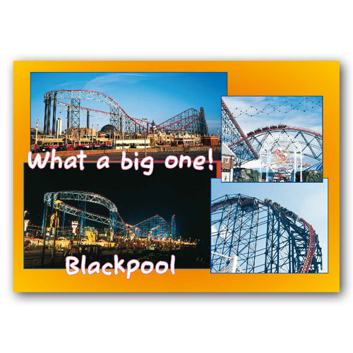 Blackpool - What a Big One - Sold in pack (100 postcards)