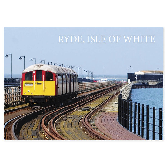 Isle of Wight Ryde Train Ride - Sold in pack (100 postcards)