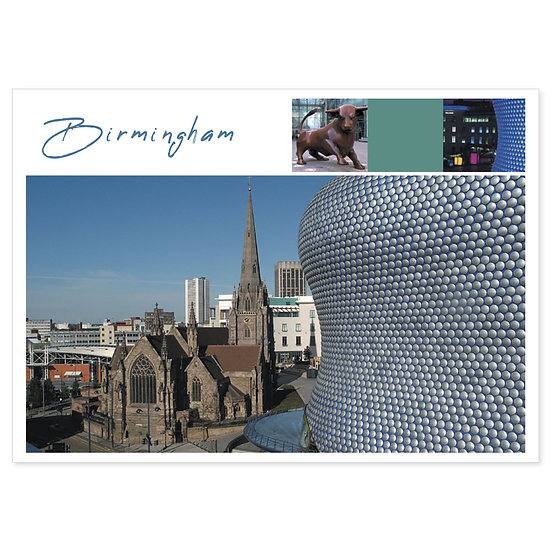 Birmingham Bull Ring Comp - Sold in pack (100 postcards)