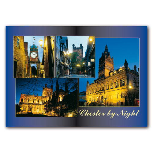 Chester By Night - Sold in pack (100 postcards)