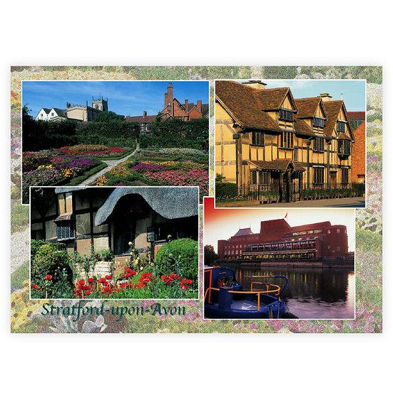 Stratford-Upon-Avon Compilation - Sold in pack (100 postcards)