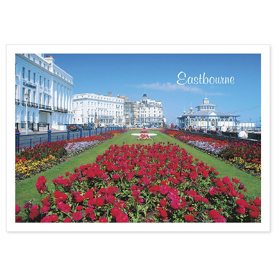 Eastbourne Flowers - Sold in pack (100 postcards)