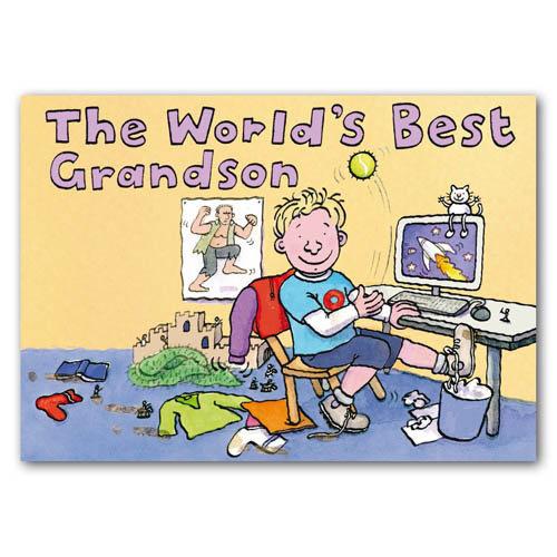 World's Best Grandson - Sold in pack (100 postcards)