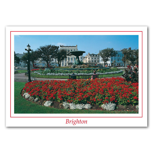 brighton Old Steine Fountain - Sold in pack (100 postcards)