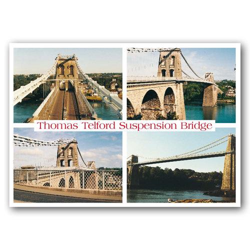 Ironbridge Thomas Telford Suspension - Sold in pack (100 postcards)
