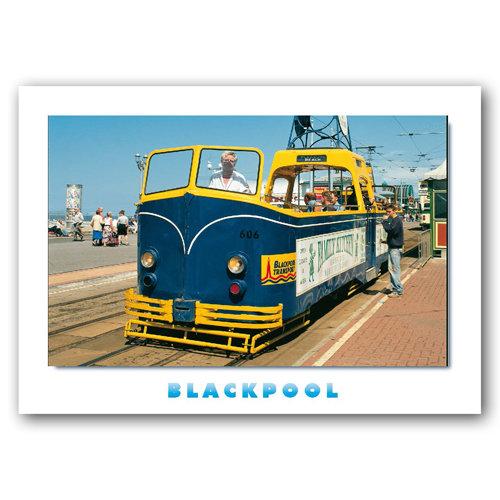 Blackpool tram - Sold in pack (100 postcards)