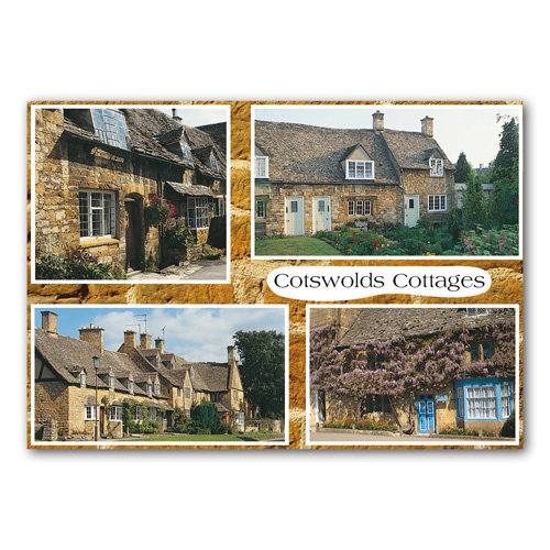 Cotswolds Cottages - Sold in pack (100 postcards)