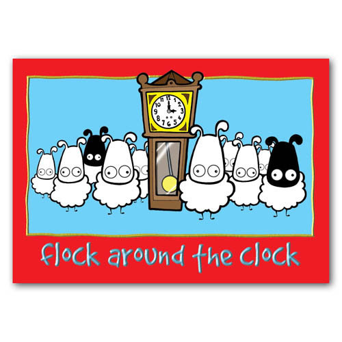 Baa - Flock Around The Clock - Sold in pack (100 postcards)