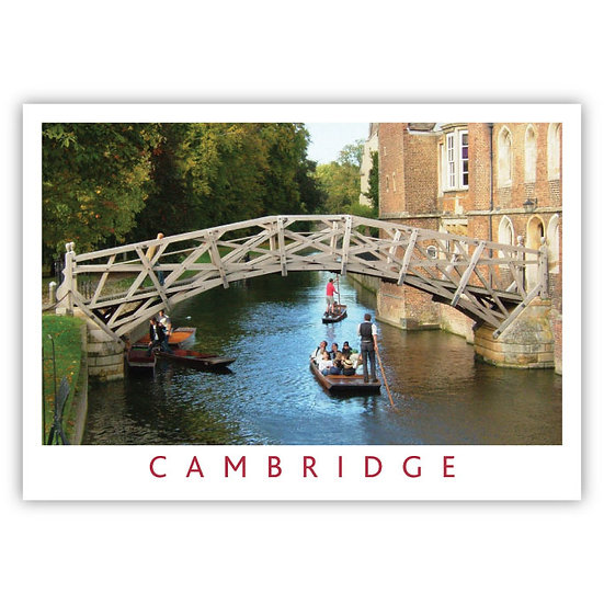 Cambridge Queens & Math Bridge - Sold in pack (100 postcards)