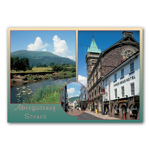Abergavenny Scenes - Sold in pack (100 postcards)