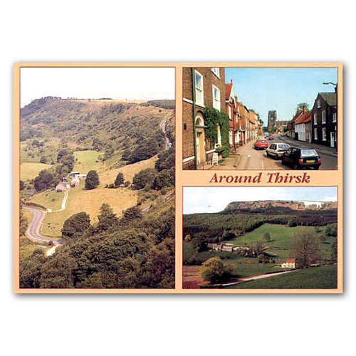 Thirsk Around 3 View Comp - Sold in pack (100 postcards)