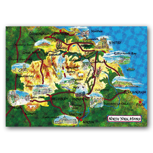 North York Moor Map - Sold in pack (100 postcards)