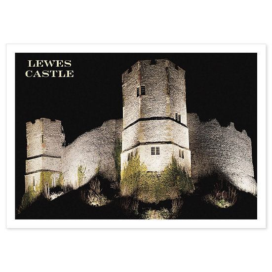 Lewes Castle - Sold in pack (100 postcards)