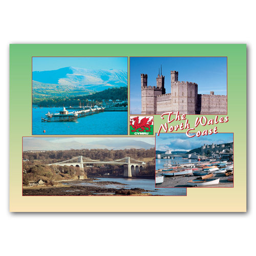 Wales North Coast The - Sold in pack (100 postcards)