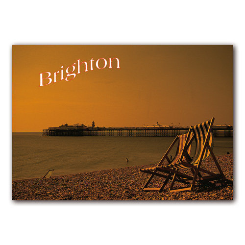 Brighton Beach and Pier - Sold in pack (100 postcards)