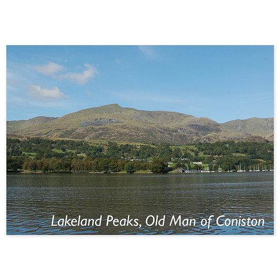 Lakeland Peaks, Old Man of Coniston - Sold in pack (100 postcards)