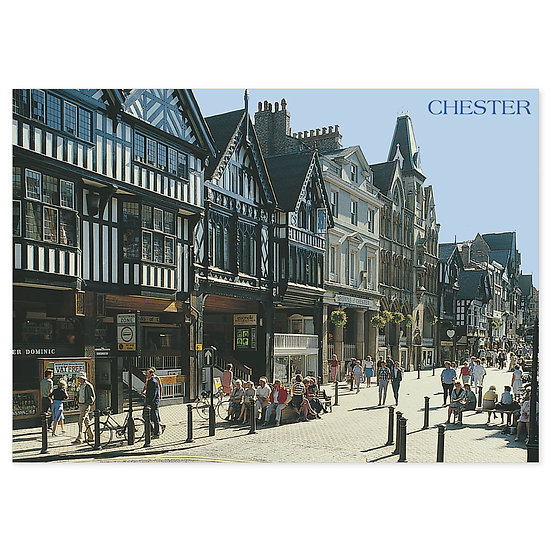 Chester Eastgate Pedestrian Way - Sold in pack (100 postcards)