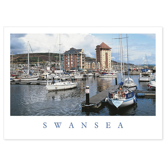 Swansea The Marina - Sold in pack (100 postcards)