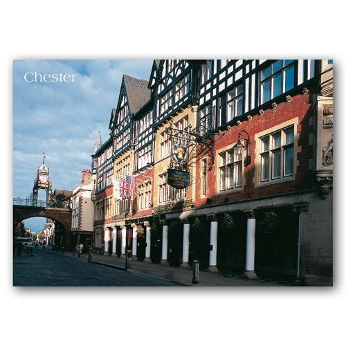 Chester Eastgate Street & Grosvenor Hotel - Sold in pack (100 postcards)