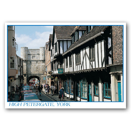 York High Petergate - Sold in pack (100 postcards)