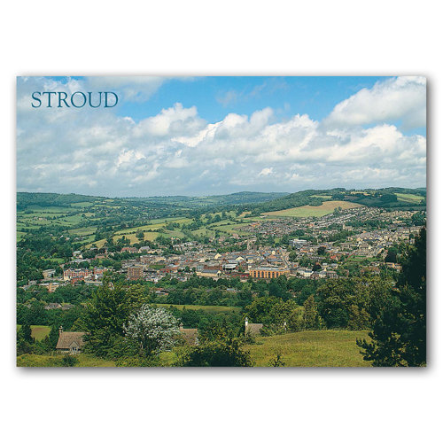 Stroud from Rodborough Common - Sold in pack (100 postcards)