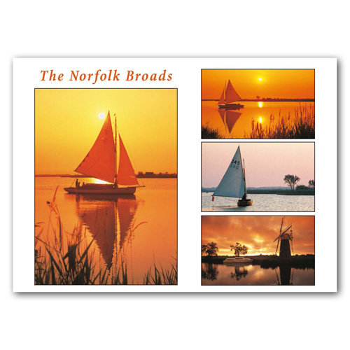 Norfolk Broads View Comp - Sold in pack (100 postcards)
