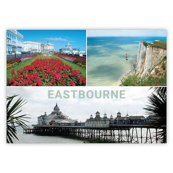 Eastbourne 3 View Comp - Sold in pack (100 postcards)