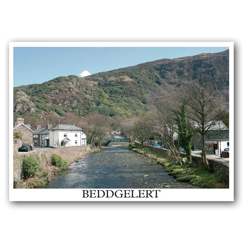 Beddgelert Single View - Sold in pack (100 postcards)