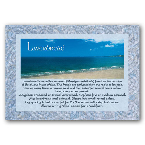 Wales Recipe Card Laverbread - Sold in pack (100 postcards)