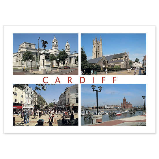 Cardiff Around - Sold in pack (100 postcards)