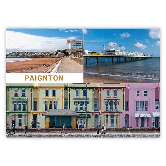 Paignton 3 View Comp - Sold in pack (100 postcards)