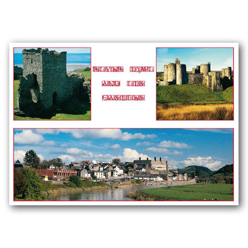 Carmarthen River Tywi Comp - Sold in pack (100 postcards)