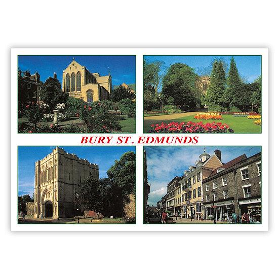 Bury St Edmunds - Sold in pack (100 postcards)