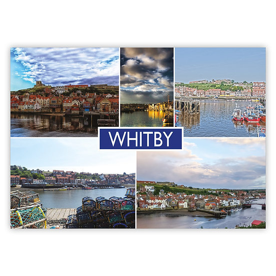 Whitby 5 View Comp - Sold in pack (100 postcards)