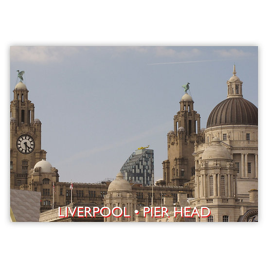 Liverpool Pier Head - Sold in pack (100 postcards)