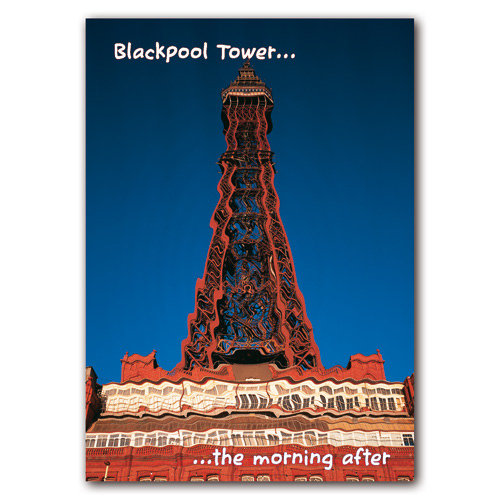 Blackpool Tower The Morning After - Sold in pack (100 postcards)