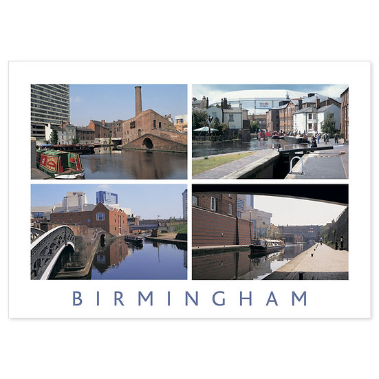 Birmingham Canal 4 View Comp - Sold in pack (100 postcards)