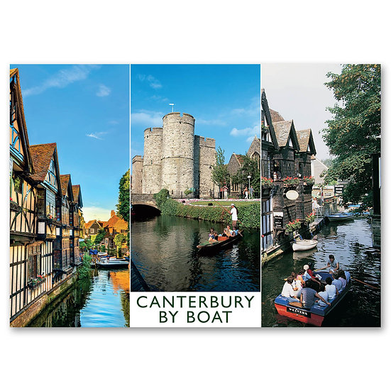Canterbury by Boat - Sold in pack (100 postcards)