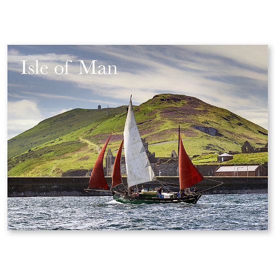 Isle of Man : Yachts at Peel - Sold in pack (100 postcards)
