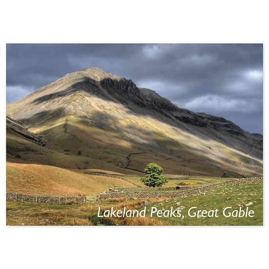 Lakeland Peaks, Great Gable - Sold in pack (100 postcards)