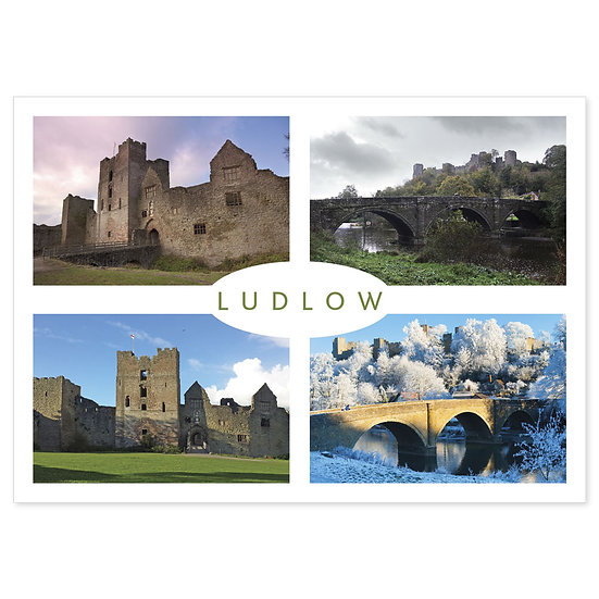 Ludlow Castle Compilation - Sold in pack (100 postcards)