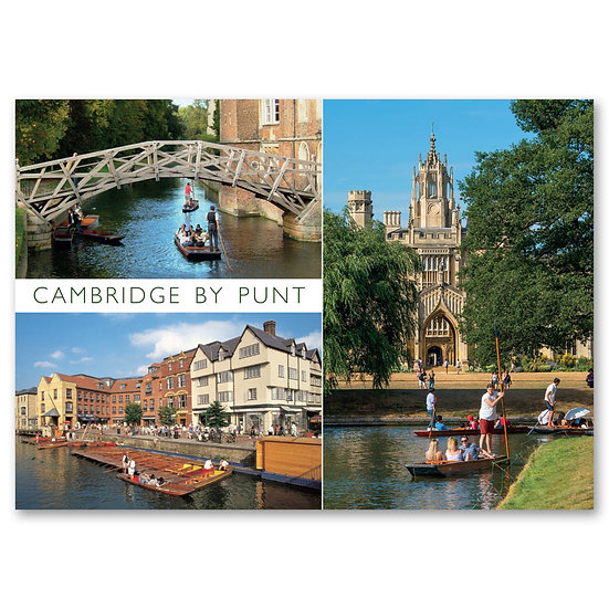Cambridge by Punt - Sold in pack (100 postcards)