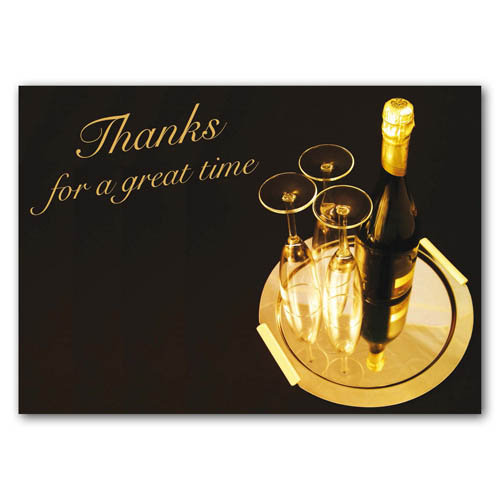 Thank You - For A Great Time - Sold in pack (100 postcards)