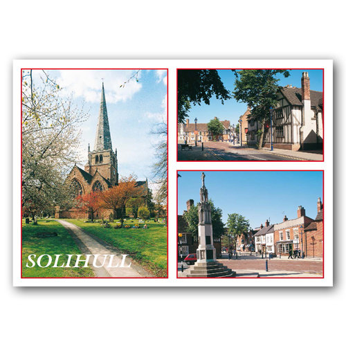 Solihull 3 View Comp - Sold in pack (100 postcards)