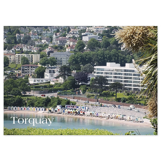 Torquay Beach Hut View - Sold in pack (100 postcards)